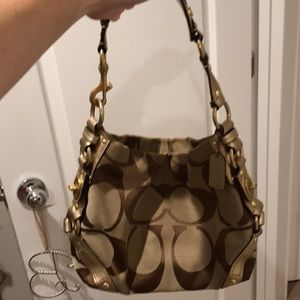 Coach brown/ bronze hobo shoulder bag